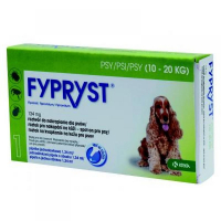 FYPRYST 134 mg PSY 10-20 kg roztok na kvapkanie na kožu pre psov (pipeta) 1x1,34 ml