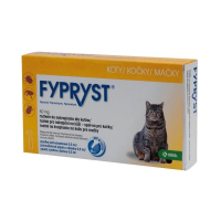 FYPRYST 50 mg MAČKY roztok na kvapkanie na kožu pre mačky (pipeta) 1x0,5 ml
