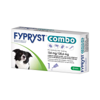 FYPRYST combo spot-on 134 mg/120,6 mg stredné psy 10-20 kg 1x1,34 ml