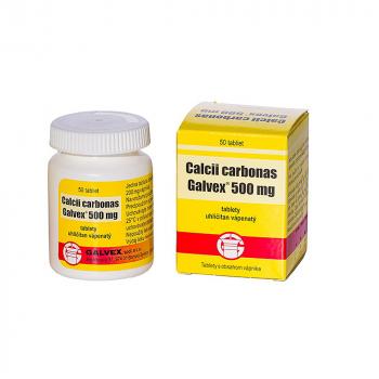 GALVEX Calcii carbonas 500 mg 50 tabliet
