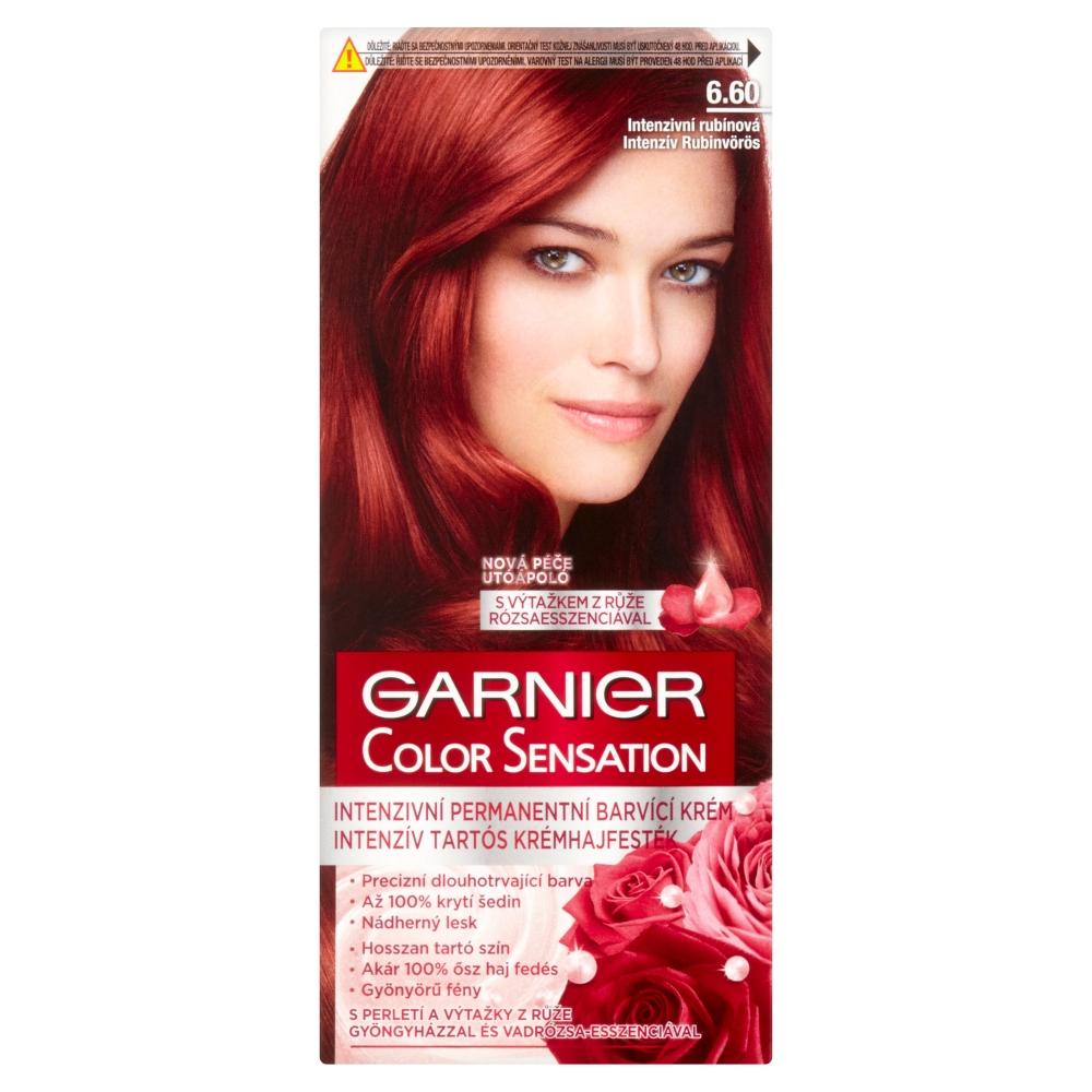 GARNIER Color Sensitive farby na vlasy odtieň 6.60 intenzívna rubínová
