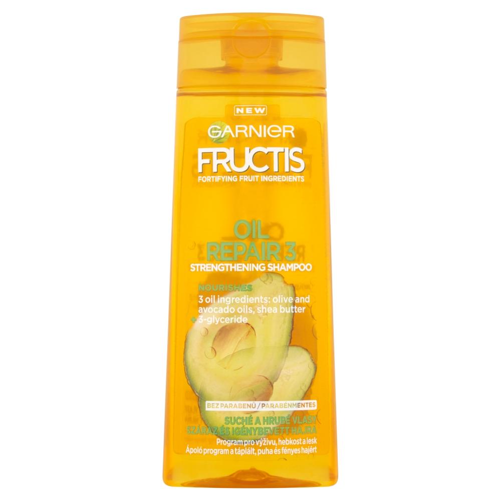 GARNIER Fructis šampón regenerácie + lesk 250ml