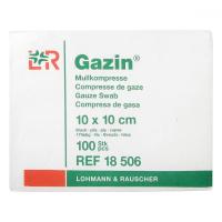 GAZIN Gáza hydrofilné skladaná  10 x 10 cm / 100 ks 8 vrst.