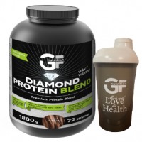GF NUTRITION Diamond protein blend dvojitá čokoláda 1800 g + ŠEJKER 600 ml zadarmo