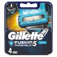 GILLETTE Fusion5 ProShield Chill Náhradné hlavice pre mužov 4 ks