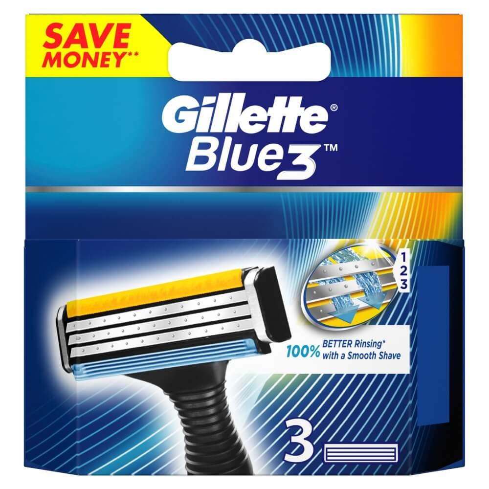 GILLETTE Blue3 náhradné hlavice 3 ks