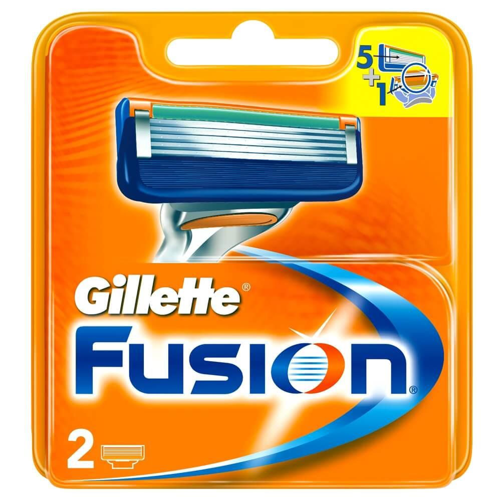 GILLETTE Fusion náhradné hlavice 2 ks