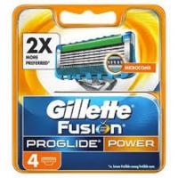 GILLETTE Fusion ProGlide Power náhradné hlavice pre mužov 4 ks
