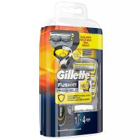 GILLETTE Fusion ProShield Pánsky holiaci strojček s technológiou FlexBall + holiaca hlavica 4 ks
