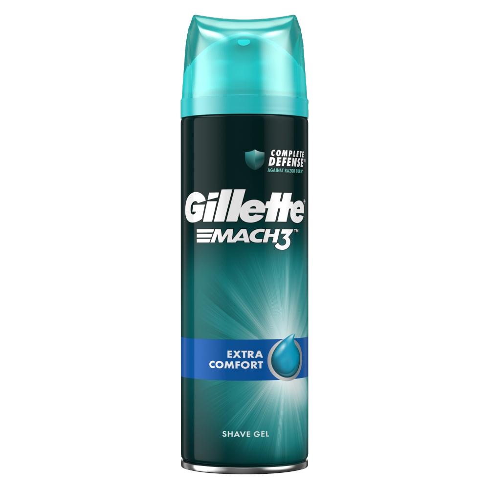 GILLETTE upokojujúci gél na holenie 200 ml