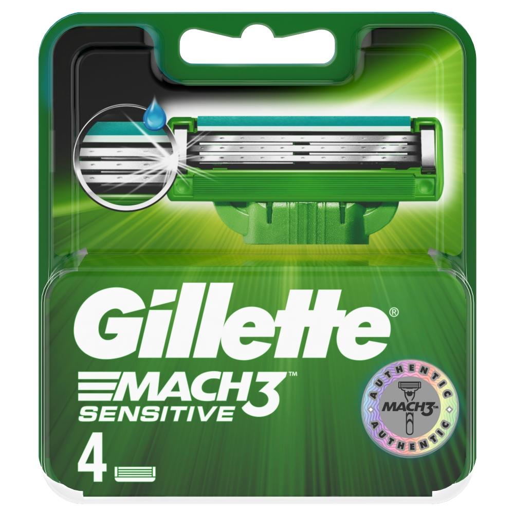 GILLETTE MACH3 sensitive náhradné hlavice 4 ks