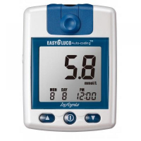 Glukometer EasyGluco s 25 ks testovacích prúžkov + 25 lancet