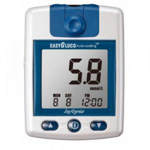 EASYGLUCO Glukometer 25 kusov testovacích prúžkov a 25 kusov lanciet