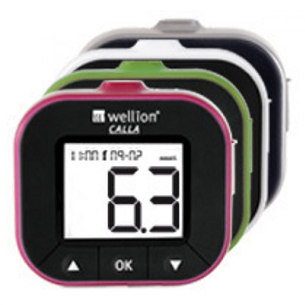 Glukometer Wellion CALLA LIGHT - set / červená