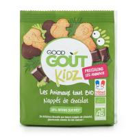GOOD GOUT BIO Maslové zvieratká polomáčané v horkej čokoláde 120 g