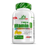 GREENDAY Vitamín D3 2500 I.U. 90 kapsúl