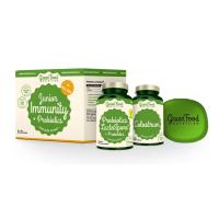 GREENFOOD NUTRITION Junior Immunity&prebiotics Colostrum 60 kapsúl a Probiotiká 60 kapsúl + PILLBOX