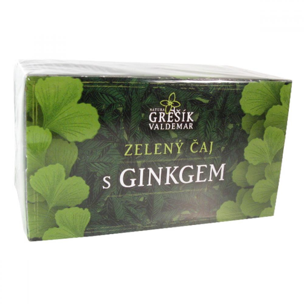 Grešík Zelený čaj s ginkgom ns 20x1.5 g prebal