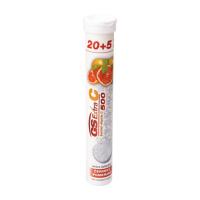 GS Extra C 500 červený pomaranč 20+5 šumivých tabliet