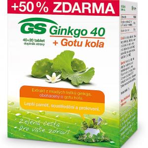 GS Ginkgo 40 + Gotu kola 40+20 tabliet