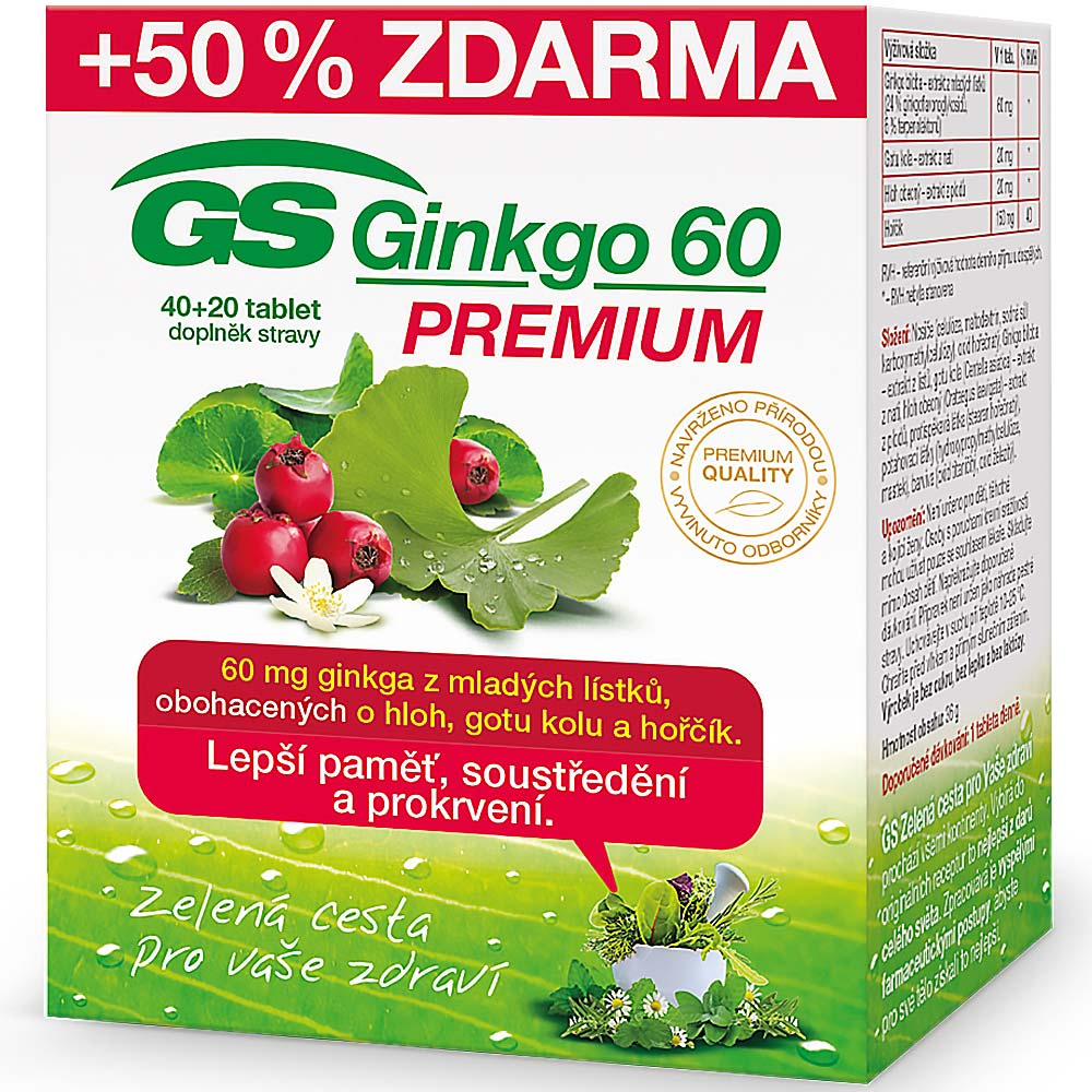 GS Ginkgo 60 Premium 40 + 20 tablet