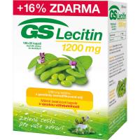 GS Lecitín 1200 - 120+20 kapsúl ZDARMA