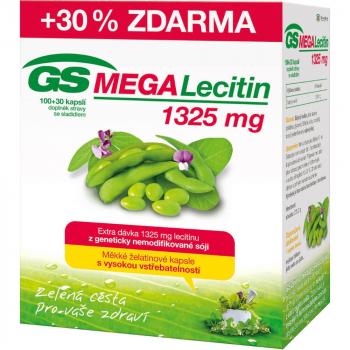 GS MEGA Lecitín 1325 mg 100+30 kapsúl