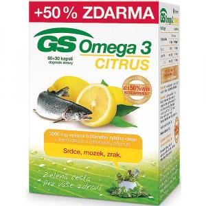 GS Omega 3 Citrus 60+30 kapsúl