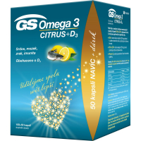 GS Omega 3 citrus + D3 100 + 50 kapsúl DARČEK 2021