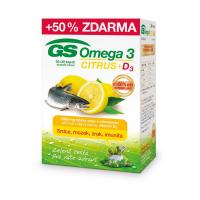 GS Omega 3 citrus + vitamín D3 60 + 30 kapsúl ZADARMO