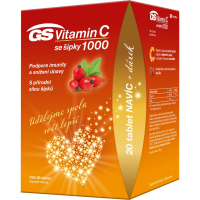 GS Vitamín C1000 + šípky 100 + 20 tabliet DARČEK 2021