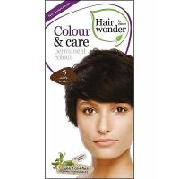 HAIRWONDER Prírodné dlhotrvajúca farba na vlasy Tmavá hnedá 3