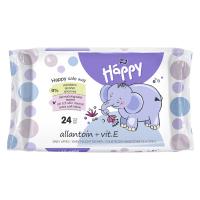 HAPPY Baby Čistiace vlhčené obrúsky s alantoínom a vitamínom E 24 ks
