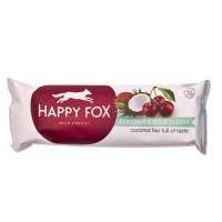 HAPPY FOX Kokosová tyčinka s višňami 40 g