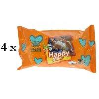 HAPPY MIMI Detské vlhčené obrúsky 4x72 kusov