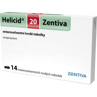 HELICID 20 mg tvrdé kapsule 14 ks
