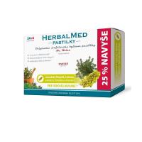 HERBALMED Islandský lišajník, tymián, vitamín C 24 + 6 pastiliek