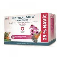 HERBALMED Pastilky Echinacea, rakytník, vitamín C 24 + 6 pastiliek ZDARMA