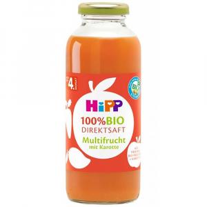 HIPP 100% BIO JUICE Ovocná šťava s mrkvou 330 ml