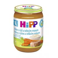 HiPP BIO Mrkva s ryžou a teľacím mäsom 190 g