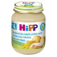 HiPP BIO Zemiakové pyré s kukuricou a morčacím 125 g
