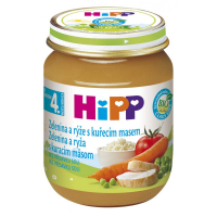 HiPP BIO Zelenina s ryžou a kuracím mäsom 125 g