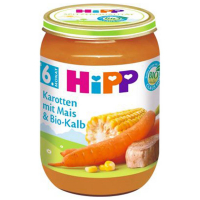 HiPP Mrkva s kukuricou a teľacím mäsom BIO 190 g