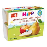 HIPP Ovocie 100% Jablká s hruškami BIO 4x100 g