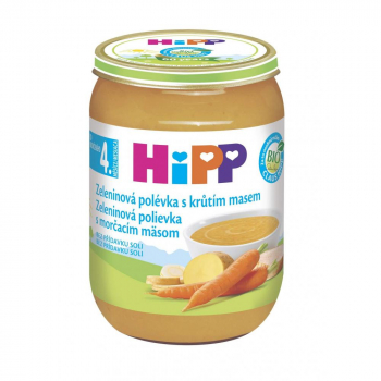 HIPP Polievky Zeleninová s morčacím BIO 190 g