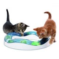 Hračka mačka guľová horská dráha s loptičkou CATIT plast