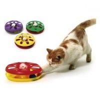 KARLIE Hračka pre mačky Tanier s loptičkou 24 cm 1 ks