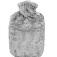 HUGO FROSCH Classic termofor s obalom z umelej kožušiny s podšívkou šedý 1,8 l