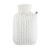 HUGO FROSCH Termofor s bielym pleteným obalom 1,8 l