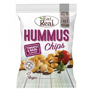 EAT REAL Hummus Chips paradajka a bazalka 135 g BEZ lepku